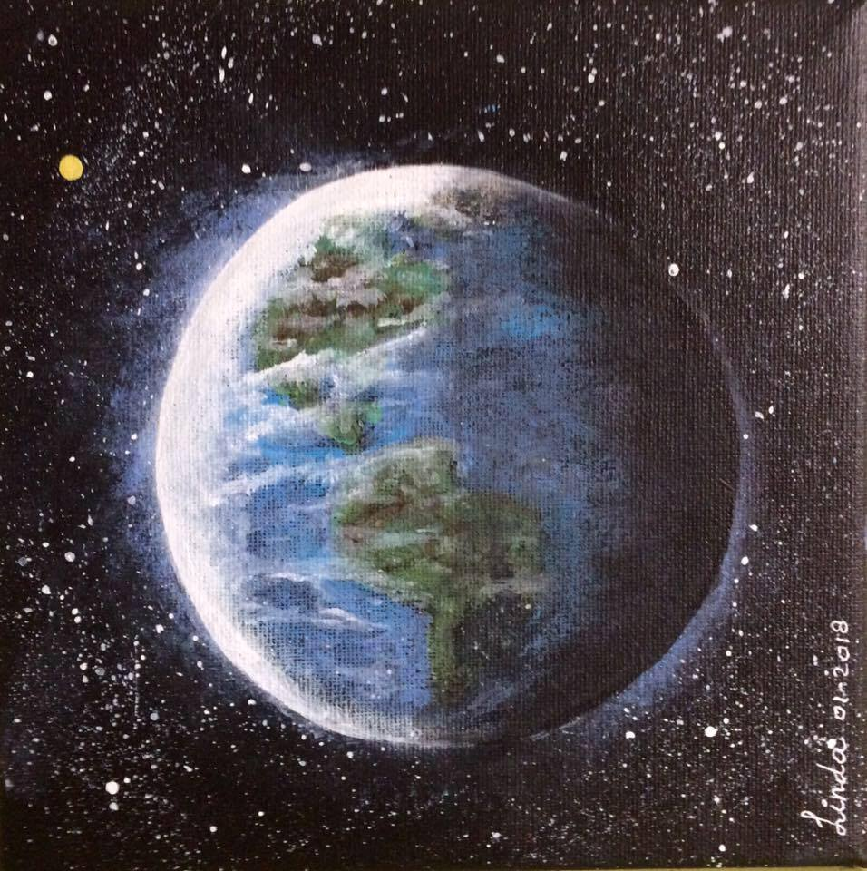schilderij van planeet Aarde